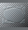 modern concept broken glass on transparent vector image