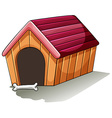 A wooden doghouse vector image vector image
