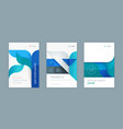abstract business template set vector image vector image