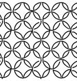 Abstract rings seamless pattern for your design vector image vector image