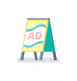 advertising or ad reclaiming placard info vector image vector image