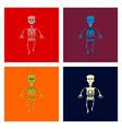 assembly flat skeleton halloween monster vector image vector image