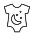baby romper line icon baby clothes and kid vector image vector image