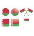 badges with flag of Belarus vector image