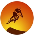 Bicycle extreme sport racer vector image vector image
