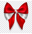 big bow in colors austria flag vector image