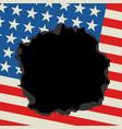 broken flag vector image vector image