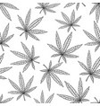 cannabis leaf engraved style vector image
