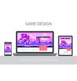 cartoon game design ui concept vector image