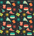 celebration festive seamless pattern with party vector image vector image