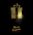 christmas and new year gold glitter gift box card vector image vector image