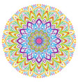colorful mandala vintage decorative elements vector image