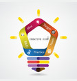 Creative infographics light bulb idea concept vector image