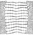 crocodile skin black and white seamless pattern vector image vector image