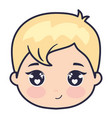 cute and little head baby love vector image vector image
