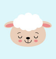 cute sleeping sheep concept of vector image