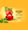 diamond wedding ring in box landing page vector image