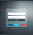 elegant login ui template form design with vector image vector image
