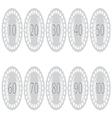 Emblem badge anniversaries set vector image