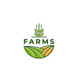 farm icon template vector image vector image