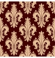 Fleur-de-lis seamless pattern with curly leaves vector image vector image