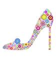 floral shoe vector image