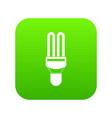 fluorescence lamp icon digital green vector image vector image