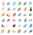 folder icons set isometric style vector image vector image