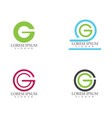 g logo and symbols template icons app letters vector image vector image
