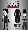 Goth Male Character Set vector image vector image