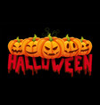 halloween banner halloween pumpkin with vector image
