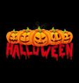 halloween banner pumpkin vector image