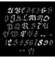 Hand drawn marker artistic font vector image vector image