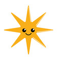 happy cute sun weather icon vector image