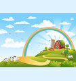 happy farm vector image