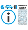 Info Icon with 1000 Medical Business Symbols vector image vector image