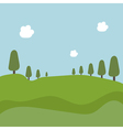 landscape with trees and fields vector image vector image