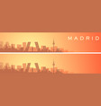 madrid beautiful skyline scenery banner vector image vector image