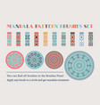 mandala brushes set vector image