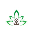 meditation or spa leaf logo image vector image