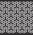 monochrome seamless pattern of hexagon shaped vector image vector image
