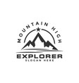 mountain high logo graphic design template vector image