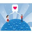 Online love vector image vector image