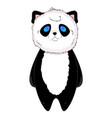 Panda kawaii standing