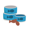 pet shop food fish can and cookies isolated white vector image vector image
