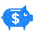 piggy bank grunge icon vector image vector image