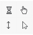 Pixel cursors icons on white vector image