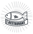 restaurant seafood delicacies isolated icon design vector image vector image