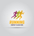 running man abstract isolated colored logo vector image vector image