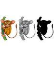 set if tarsier character vector image vector image